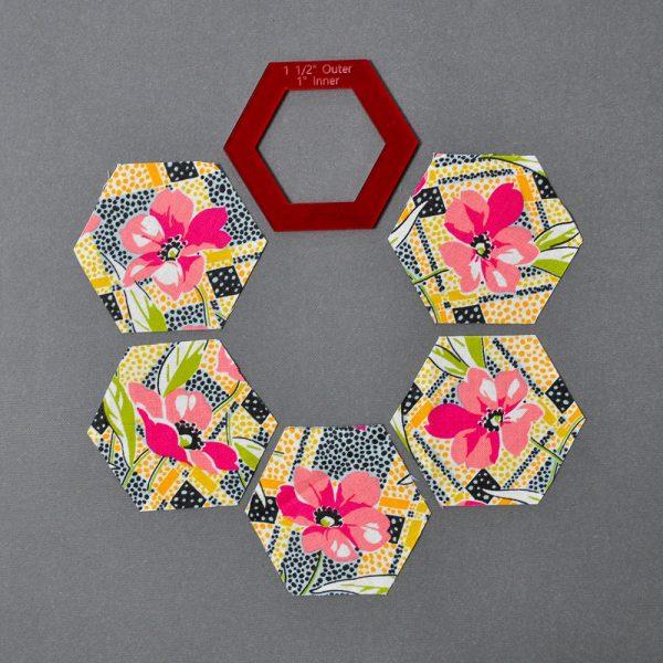 Hexagon Templates Fussy Cutting