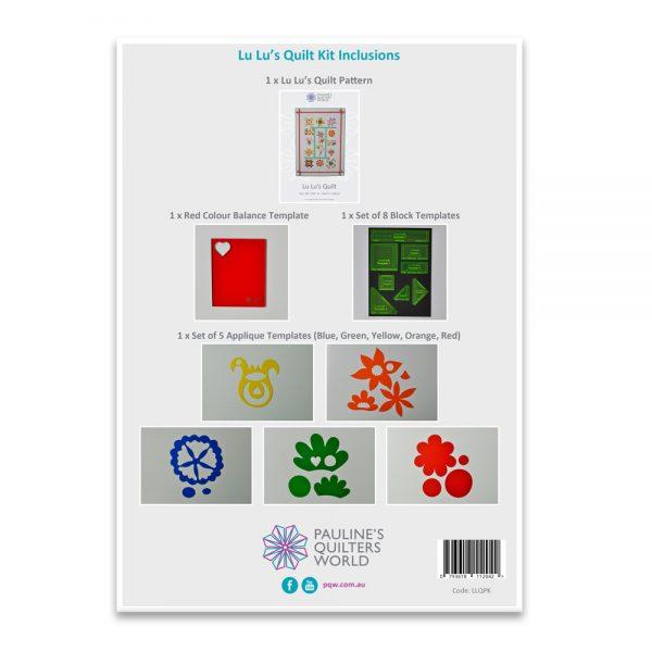 Lu Lu's Quilt Pattern Inclusions