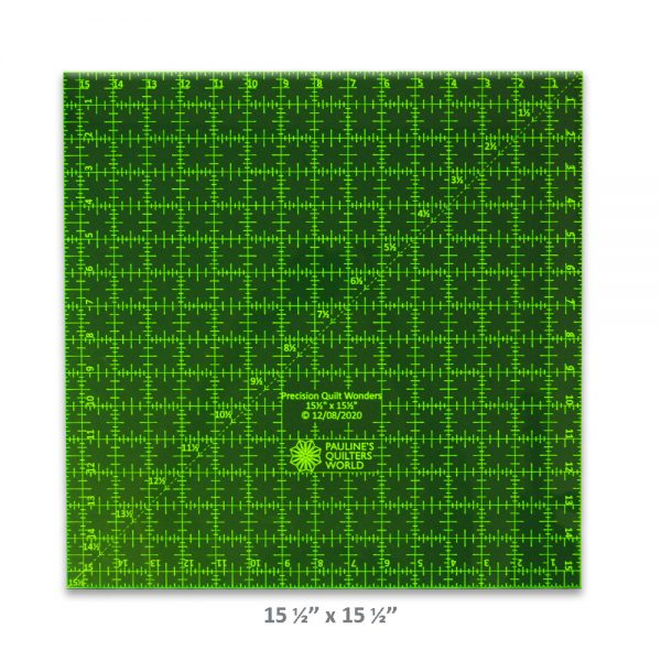 "Precision Quilt Wonders Ruler 15 1/2"" x 15 1/2"""