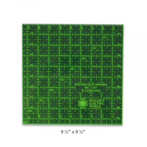 "Precision Quilt Wonders Ruler 9 1/2"" x 9 1/2"""