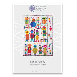 Robot Family Quilt Pattern