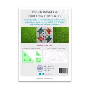 Pieced Basket and Quilting Templates